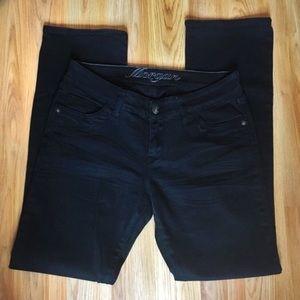 dELiA*s Morgan Black Straight Leg Jeans Size 11/12